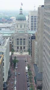 Uitzicht van het Monument op de State Capitol